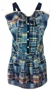Paul & Joe short dress Blue Plaid on Tradesy