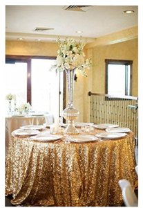 Gorgeous Gold Sequin Tablecloths