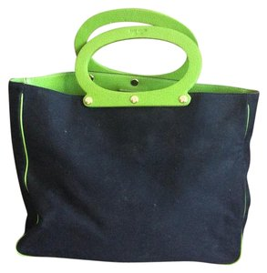 Kate Spade Tote in Blavk With Green Trim