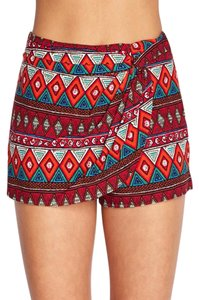 Forever 21 Mini/Short Shorts Red/Multi