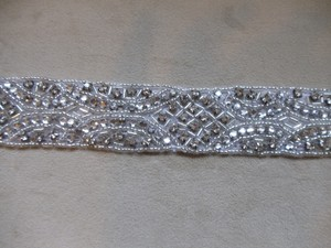 Rhinestone Bridal Sash - Sew On