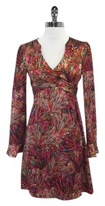 Nanette Lepore short dress Pink Long Sleeve Splatter Print on Tradesy