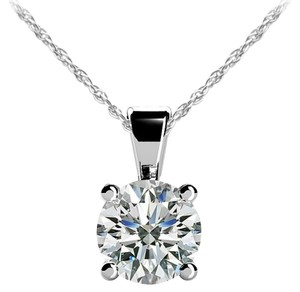 Avi and Co 1.06 ct. Round Brilliant Diamond Solitaire Pendant G-H/SI-1 14K White Gold