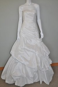 Pronovias Ivory Satin Reduced An Extra This Week Only Feminine Wedding Dress Size 8 (M)