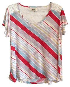 Anthropologie T Shirt Striped