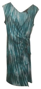 BCBGMAXAZRIA short dress Cyan/combo on Tradesy