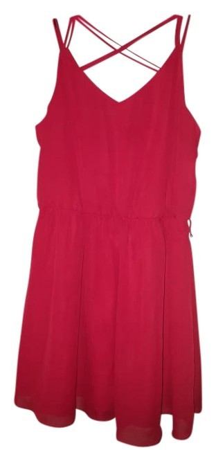 Item - Hot Red Above Knee Short Casual Dress Size 16 (XL, Plus 0x)