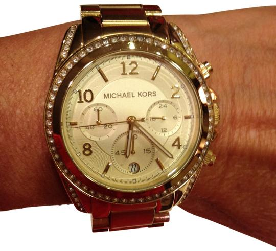 Preload https://item5.tradesy.com/images/michael-kors-gold-tone-blair-chronograph-watch-168854-0-0.jpg?width=440&height=440