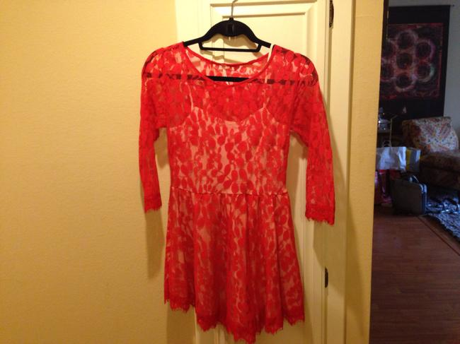Free People short dress Red Off Duty on Tradesy