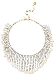 Kate Spade NWT KATE SPADE SEAVIEW PEARL FRINGE NECKLACE W DUST BAG $398 GORGEOUS