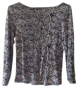 Philippe Adec Python Slits Top Animal Print