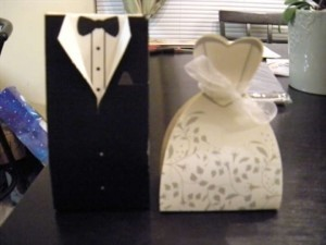 Bride and Groom Boxes Wedding Favors