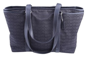 Coach Diaper Mommy To Be Tote in Black/Charcoal