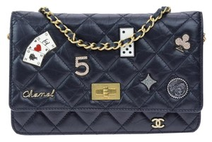 bca27503a48d Chanel Wallet on Chain 2.55 Reissue Lady Of Luck Casino Woc Black ...