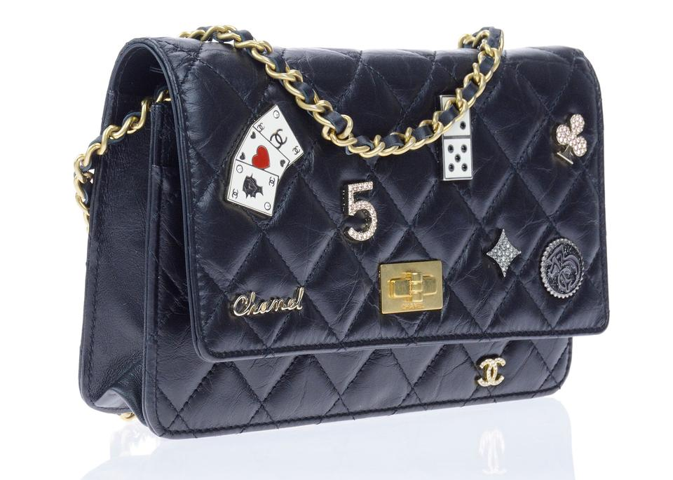 Chanel Wallet on Chain 2.55 Reissue Lady Of Luck Casino Woc Black Leather  Cross Body Bag 285d1157b889f