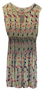 Yoana Baraschi short dress Multi - cream, coral, blue, greens. on Tradesy