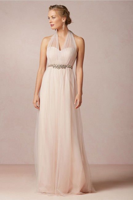 Item - Pale Pink Tool Annabell Bhld Traditional Bridesmaid/Mob Dress Size 4 (S)