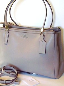 Coach Crossbody Grey Satchel