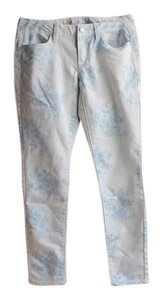 American Eagle Outfitters Floral Print Printed Jeggings-Light Wash