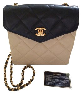 Chanel Vintage Handbag Leather Handbag Cross Body Bag