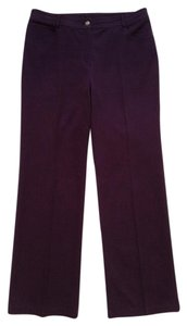 St. John Straight Pants Burgundy Wine