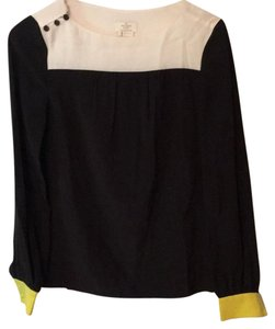 Kate Spade Top Deep Navy/Black, Yellow, and White
