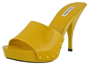 Miu Miu Yellow Sandals