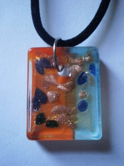 Other New unique lucite necklace