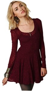 Free People short dress boysenberry on Tradesy