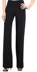 Armani Collezioni Silk Work Plus-size Wide Leg Pants Black
