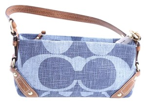 Coach Denim Leather Small Handbag Shoulder Bag