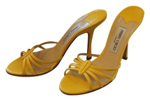 Jimmy Choo Manolo Blahnik Strappy Yellow Sandals
