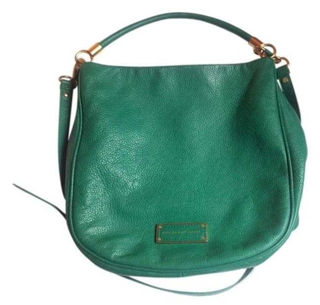 """Item - """"Too Hot To Handle"""" Parrot Green Leather Hobo Bag"""
