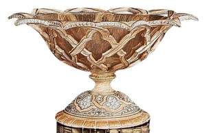 Jay Strongwater Jay Strongwater Arabesque Bowl Deco Candy Dish Swarovski Crystals $1,295 Retail