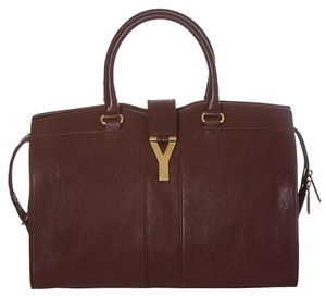 Saint Laurent Satchel in Burgundy