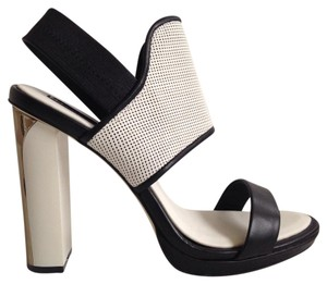BCBGMAXAZRIA Black-White Sandals