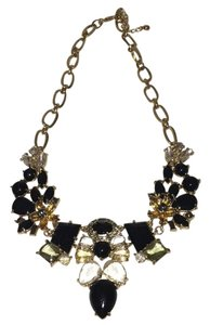 Send the Trend Black and Gold Statement Necklace