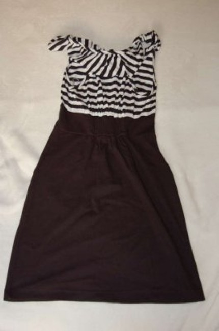 Fire short dress Black and White on Tradesy