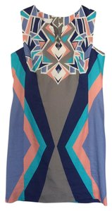 Corey Lynn Calter short dress Multi, tan, purple, teal, peach, cream on Tradesy