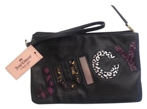 Juicy Couture Wristlet Like New Black Clutch