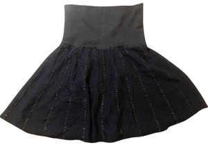 Free People P2108 Size Small Skirt Navy