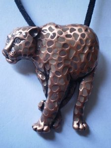 New leopard w/crystal eyes necklace