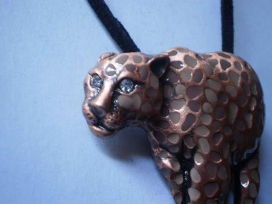 Other New leopard w/crystal eyes necklace