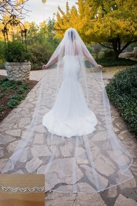 Zveil Crystal Edged Cathedral Veil With Beading