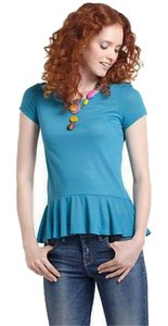 Anthropologie T Shirt Turquoise