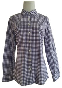 J.Crew Button Down Shirt Purple/White