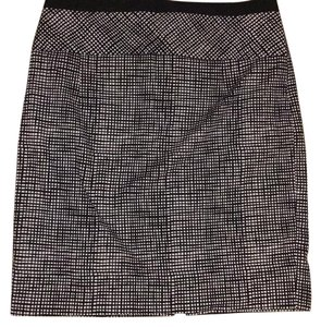 Express Pencil Skirt Black and White