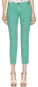 Tory Burch Capri/Cropped Pants Green