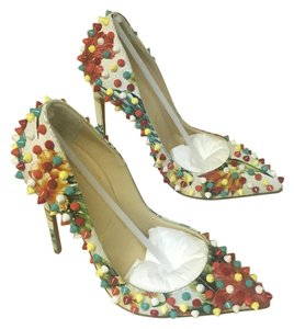 Christian Louboutin WHITE/MULTICOLOR Pumps