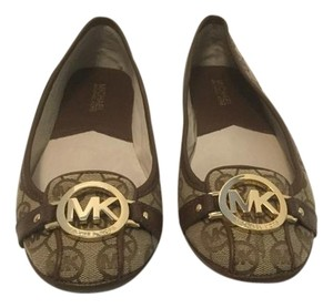 MICHAEL Michael Kors Padded Insoles Brown fabric & leather logo Flats
